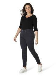 Klasyczne spodnie jeans grafit XXL, wąska nogawka JOYA